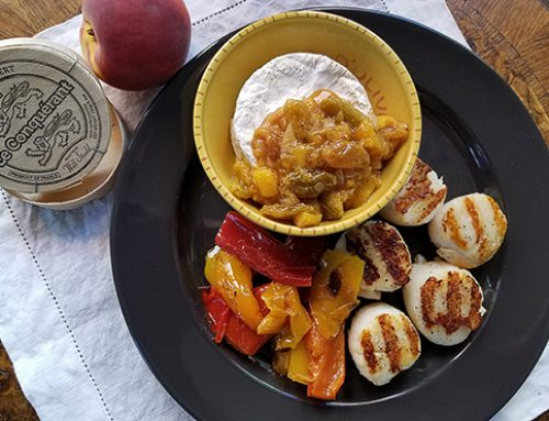 Sweet-savory Scallops and Camembert